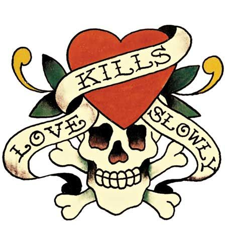 Not only has Ed rocked the body art world, he's also headed to Hollywood, and gained a showbiz following, a similar skull and heart design to this one was recently sported by Britney Spears - with 'Death of love' embezzled across her chest on a pink tee, looks like love is sooooo over in LA  <br />