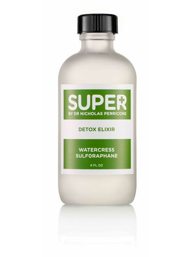 "<p>Generously mist your face with Super Detox Elixir by Dr Perricone to tighten pores and wake skin up. The natural powers of watercress will whisk away toxins in a flash<br />£25.50, <a href=""http://www.getsuper.co.uk/detox-elixir-hydrating-mist.html"" target=""_blank"">getsuper.co.uk</a></p>"