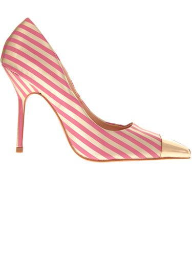 "<p>Sugar and spice and all things nice… we love these candy stripe stilettos.  Perfect to bring out your feminine side, mix them with ruffles and frills and lots of gold jewellery</p> <p>£60, <a href=""http://www.asos.com/?hrd=1"" target=""_blank"">asos.com</a> </p>"