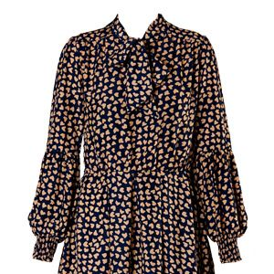 """<p>Get the 40's look with this beautifully printed dress, works perfectly with chunky tights for cold days. Team with a brown satchel-style bag, to pull off that effortless day through to night look.</p><p>£20, <a title=""""Lucy Heart Print Pussy Bow Dress"""" href=""""http://www.boohoo.com/restofworld/collections/vintage-affair/icat/vintage-affair/new-in/lucy-heart-print-crepe-de-chine-long-sleeve-pussy-bow-dress/invt/azz70006"""" target=""""_blank"""">boohoo.com</a></p>"""
