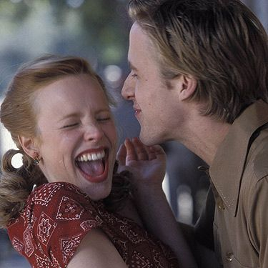 <p>The Notebook OBVIOUSLY has to be on the list! Why? Because a) it's got Ryan Gosling in it, b) Rachel McAdams is GORGEOUS and oh so very cute and c) THAT KISS! Totally swoonsome and basically the reason why women will never be happy with their lot.</p>
