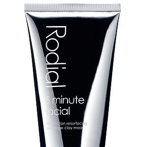 """<p>Any product promising results in five minutes gets our attention. Five minutes? That's about how long it takes to make a cup of tea! And this Rodial face mask isn't just any thick clay face mask, it's full of active ingredients to restore luminosity. Plus, it gently exfoliates the skin, so when you remove it you should be left with a smooth-as-a-baby's-bum face.<br /> <br />Rodial 5 minute facial, £35.00, <a title=""""http://www.rodial.co.uk/"""" href=""""http://www.rodial.co.uk/"""" target=""""_blank"""">Rodial.co.uk</a></p>"""
