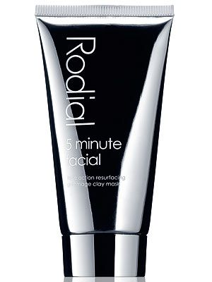 "<p>Any product promising results in five minutes gets our attention. Five minutes? That's about how long it takes to make a cup of tea! And this Rodial face mask isn't just any thick clay face mask, it's full of active ingredients to restore luminosity. Plus, it gently exfoliates the skin, so when you remove it you should be left with a smooth-as-a-baby's-bum face.<br /> <br />Rodial 5 minute facial, £35.00, <a title=""http://www.rodial.co.uk/"" href=""http://www.rodial.co.uk/"" target=""_blank"">Rodial.co.uk</a></p>"