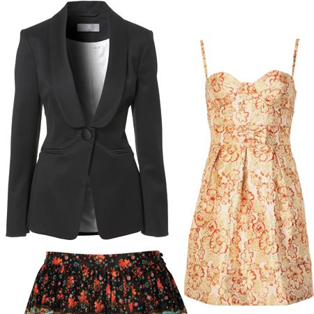 <p>This tailored jacket is great for nipping in your waist. With dresses&#x3B; stick to a simple shape to avoid looking OTT but go for bold colour and prints. The higher the hemline the better for little ladies! This boho skirt will show off your fabulous legs. </p><p> <br />Jacket £70 Wallis, Skirt £12 George at Asda, Dress £12 George at Asda.  </p>