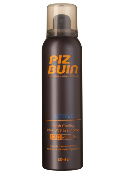 <br />Piz Buin Active Fresh Cooling Spray, £14.99<br />