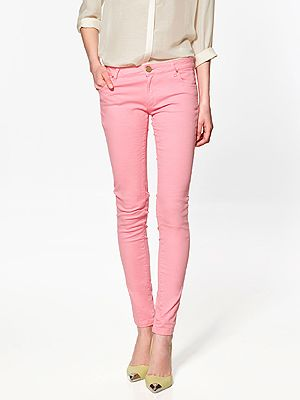 "<p>Pink satin jeans £35.99, <a title=""Zara"" href=""http://www.zara.com/webapp/wcs/stores/servlet/product/uk/en/zara-S2012/189506/695201/SATIN%2BTROUSERS%20"" target=""_blank"">Zara</a></p>"