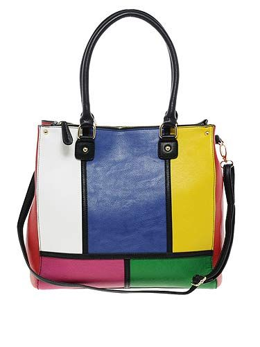 "<p>We like this shopper. It reminds us of a Rubik's cube from the 80s, but more importantly it totes (geddit?) taps into the colour blocking trend that's so hot right now. Bag it, baby!</p> <p>Aldo Swapp Shopper, £50, <a title=""Aldo"" href=""http://www.asos.com/ALDO/ALDO-Swapp-Shopper/Prod/pgeproduct.aspx?iid=1971690&cid=6992&sh=0&pge=0&pgesize=-1&sort=-1&clr=Multi"" target=""_blank"">Asos.com</a></p>"