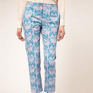 """<p>Part of the Asos 'Freedom Project' showcasing talented new fashion designers, these printed pants by Francesca Lahiri Langley are bloomin' marvellous.</p><p>Beta Fashion Tailored Trousers, £85, <a title=""""Beta fashion trousers"""" href=""""http://www.asos.com/Beta-Fashion/Beta-Fashion-Tailored-Trousers-by-Francesca-Lahiri-Langley/Prod/pgeproduct.aspx?iid=2072011&cid=2623&sh=0&pge=0&pgesize=200&sort=-1&clr=Multi%20"""" target=""""_blank"""">Asos.com</a></p>"""