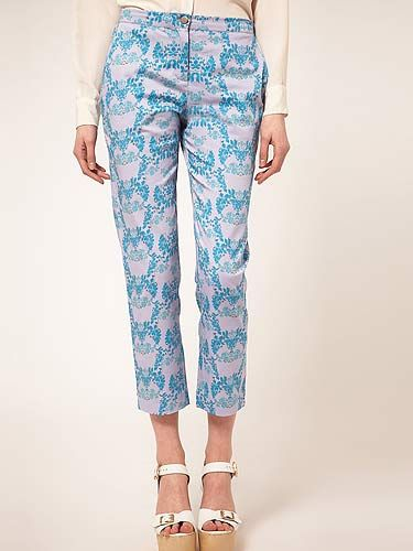 "<p>Part of the Asos 'Freedom Project' showcasing talented new fashion designers, these printed pants by Francesca Lahiri Langley are bloomin' marvellous.</p> <p>Beta Fashion Tailored Trousers, £85, <a title=""Beta fashion trousers"" href=""http://www.asos.com/Beta-Fashion/Beta-Fashion-Tailored-Trousers-by-Francesca-Lahiri-Langley/Prod/pgeproduct.aspx?iid=2072011&cid=2623&sh=0&pge=0&pgesize=200&sort=-1&clr=Multi%20"" target=""_blank"">Asos.com</a></p>"