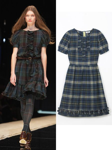<p><br />Tartans, checks, tweed - whatever way you go, these prints are hot, hot, hot this season.<br /></p><p>Catwalk - D&G<br /></p><p>Dress, £16, Matalan</p><p> </p><br />