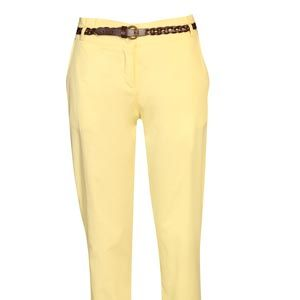 """<p>The ultimate trouser for any occasion, these chinos take the work out of pulling together a fabulous look. Complete with a plaited tan belt, the Kelly chinos are a must have item this season.</p><p>Available in yellow, pink and blue</p><p>£20, <a href=""""http://www.boohoo.com/collections/retro-glamour/icat/retro-glamour/"""" target=""""_blank"""">boohoo.com</a></p>"""