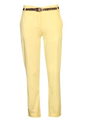 """<p>The ultimate trouser for any occasion, these chinos take the work out of pulling together a fabulous look. Complete with a plaited tan belt, the Kelly chinos are a must have item this season.</p> <p>Available in yellow, pink and blue</p> <p>£20, <a href=""""http://www.boohoo.com/collections/retro-glamour/icat/retro-glamour/"""" target=""""_blank"""">boohoo.com</a></p>"""
