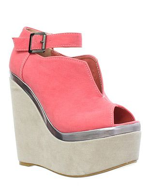 """<p>How amazing are these wedges? We love the coral colour and the glimpse of metallic detailing, they're perfect for your summer holiday, just paint your toes a gorgeous coral hue and you're good to go<br /><br />Wedges, £31.99, <a title=""""http://www.runwayshoes.co.uk/ """" href=""""http://www.runwayshoes.co.uk/ """" target=""""_blank"""">Runwayshoes.co.uk</a></p>"""
