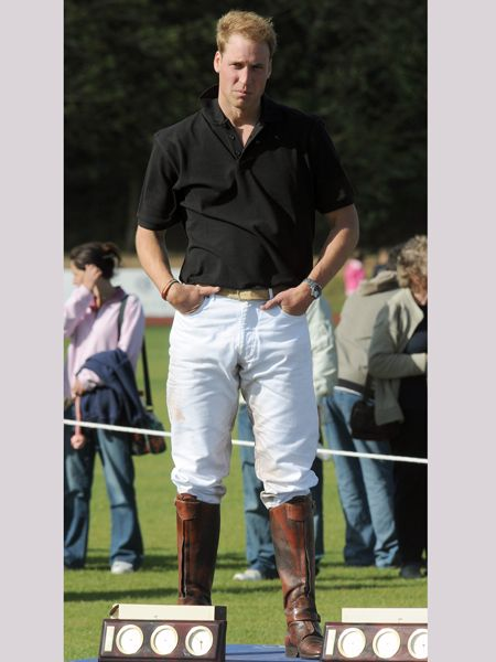 Wills, we understand one needs such attire for riding, polo playing and the likes, but when you're off the horse there's just no excuse. Leave the jeans in boots thing to us ladies.  <br />