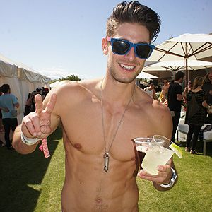 <p>Model Nicholas is one fine specimen of a man. We spotted him playing<br />frisby at a Coachella pool party, embarrassingly we practically pounced<br />on him for this picture - you're welcome!</p>
