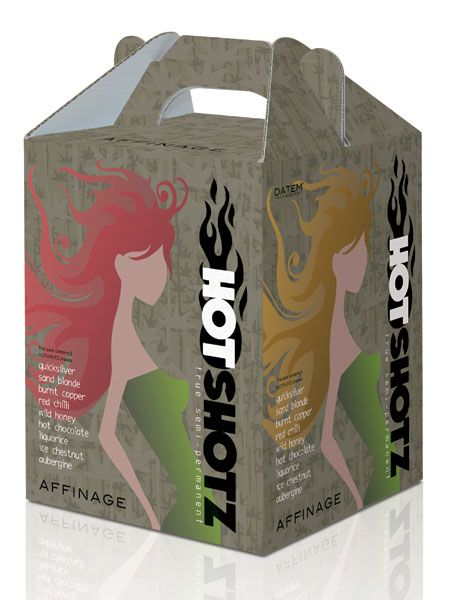 <p> </p><p>Affinage Hot Shotz, £17.50, 01794 527 111 - salon professional, semi permanent range in a choice of nine shades, with Datem Technology to freshen up faded hair colour.  <br /></p>