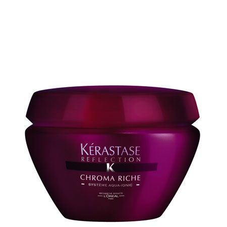 <p> </p><p>Kérastase Reflection Masque Chroma Riche, £24, 0800 316 4400 - treatment masque with emollient light-refracting care for highlighted hair, detangles and hydrates the hair fibre, providing optimum protection against fade.  <br /></p>