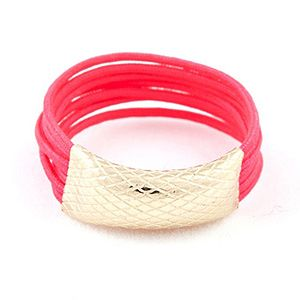 <p>Hand made in NYC this knotted cord ring oozes cool. With a pop of oh-so now pink neon and contastic gold detail, this is the freshest bit of bling we've seen for some time.</p>