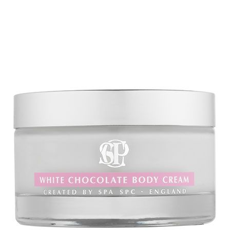 """<p>Take your beauty tips from style sensation, Kate Moss who's a fan of SPC's White Chocolate body cream, £37.50. The luxurious liquid lavishly moisturises your skin leaving it radiant and re-hydrated. The perfect partnership of coconut oil and cocoa butter make it deeply nourishing for your skin and your senses.<br /><br />Get your fix at <a target=""""_blank"""" href=""""http://www.spc.co.uk"""">www.spc.co.uk</a><br /><br />  </p>"""