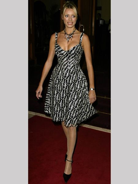 <p>At the National TV Awards in 2002 Tess gave us another reason to be envious of her, showing off her proportion-perfect figure in this pretty patterned dress</p>
