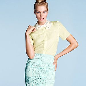 "<p>This broderie anglaise pencil skirt from H&M looks deliciously designer, but is totally high street and nails this season's girly trend perfectly.<br /><br />Broderie anglaise skirt, £29.99, <a title=""http://www.hm.com/gb/product/00480?article=00480-B"" href=""http://www.hm.com/gb/product/00480?article=00480-B"" target=""_blank"">H&M</a></p>"