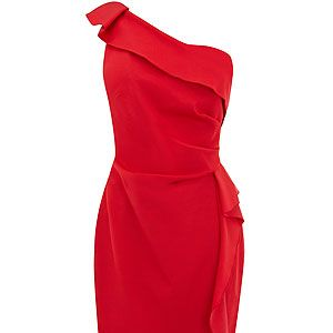 """<p>Be sure to stand out from the crowd in this raunchy red number! Classic and sophisticated, this one-shoulder dress will make you look and feel gorgeous<br /> <br />Natasha dress, £150, <a title=""""http://www.coast-stores.com///coast/fcp-product/2143419056#GBP"""" href=""""http://www.coast-stores.com///coast/fcp-product/2143419056#GBP"""" target=""""_blank"""">Coast</a><br /><br /></p>"""