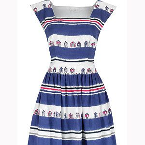 """<p>Fashionable and chic, this dress oozes beach side charm and is perfect for that quirky addition to your wardrobe<br /> <br />Promenade beach hut dress, £115, <a title=""""http://www.lauraashley.com/dresses/beach-hut-print-cotton-square-neck-dress/invt/md724/"""" href=""""http://www.lauraashley.com/dresses/beach-hut-print-cotton-square-neck-dress/invt/md724/"""" target=""""_blank"""">Laura Ashley</a><br /><br /></p>"""