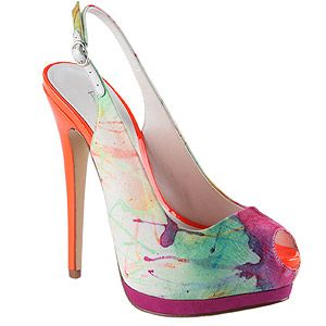 """<p>Mmmm, these print peep-toes are just dreamy. We heart the painterly neon print; the colourful palette means they'll go with EVERYTHING. Swoon. </p> <p>Hamblet heels, £80, <a href=""""http://www.aldoshoes.com/uk/women/shoes/platform-heels/89364678-hamblet/65"""">Aldo</a></p>"""