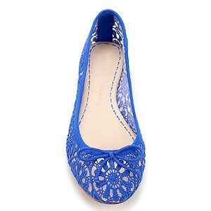 """<p>Brighten up your boring ballet pumps with this brilliant blue lace pair from Zara. Sure to put a spring in your step!</p> <p>Lace ballerina pumps, £29.99, <a href=""""http://www.zara.com/webapp/wcs/stores/servlet/product/uk/en/zara-S2012/199002/767031/LACE%2BBALLERINA"""">Zara</a></p>"""
