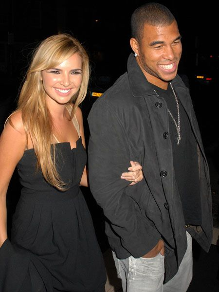 Nadine Coyle was keen to show off her new man at Nobu, where Coleen Rooney and her girlfriends were also dining  <br />