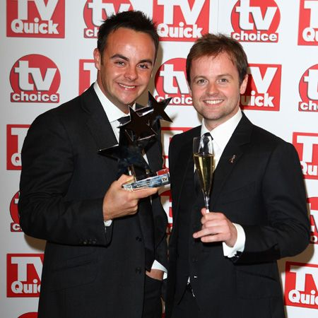 With gorgeous grins the goofy Geordies celebrate their award for Best Entertainment Show. They should also secure an award for perfect posing - check out their pearly whites!  <br />
