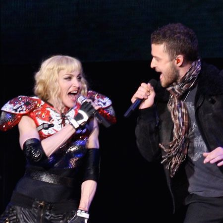 Justin later joined Madonna on stage to sing <em>4 Minutes</em>, a song he recorded with Madge for her latest album.  <br />