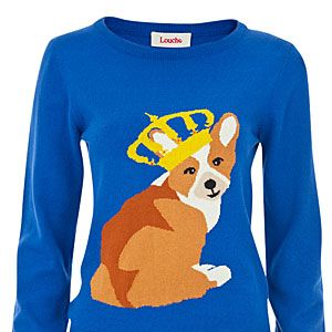 "<p>Woof! We love how this fun print jumper makes any event a royal affair - how adorable is that Corgi? </p><p>Louche Windsor Corgi Jumper, £45, <a title=""Joy The Store"" href=""http://www.joythestore.com/p-27307-louche-windsor-corgi-intarsia-jumper.aspx"" target=""_blank"">Joy The Store</a></p>"