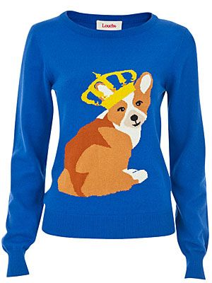 "<p>Woof! We love how this fun print jumper makes any event a royal affair - how adorable is that Corgi? </p> <p>Louche Windsor Corgi Jumper, £45, <a title=""Joy The Store"" href=""http://www.joythestore.com/p-27307-louche-windsor-corgi-intarsia-jumper.aspx"" target=""_blank"">Joy The Store</a></p>"