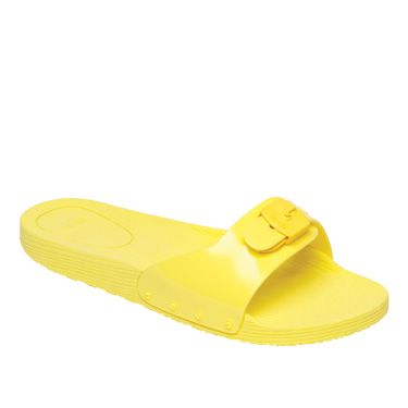 <p>Add a burst of colour to your summer wardrobe with these bold and bright zesty yellow sandals. Comfy, casual yet cool.<br/>Scholl Pop, £30</p>