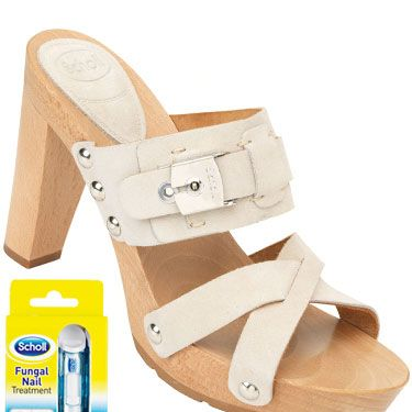 <p>Make like you're in Miami in these super-sexy strappy mules<br/> Scholl Miami, £90</p><p>In summer's strappy styles there's nowhere for your feet to hide, so if you're suffering from unsightly fungal nail infection add <strong>Scholl Fungal Nail Treatment</strong> to your footcare routine and show off your toes with confidence.</p><p><strong>Lauren, 40, from London</strong><br/>'My toenails are yellow and brittle which I hate. For the past four weeks, I've been using Scholl Fungal Nail Treatment - filing my nails once a week and painting with the liquid every day. Already they are looking healthier and my confidence is growing. I will carry on with the liquid until the discoloured nails have grown out. '</p>