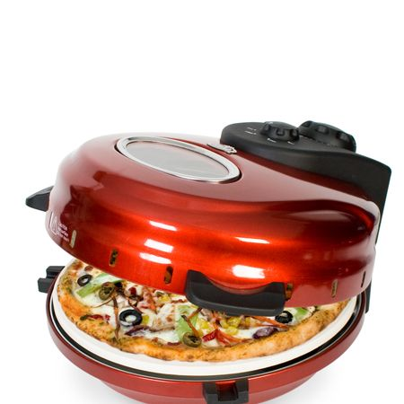 """With this gastronomic gadget, fans of Italy's finest and most famous export - pizza, won't have to trek abroad (or to the nearest pizza restaurant) to get the authentic Italian taste. This mini pizza oven from <a target=""""_blank"""" href=""""http://www.firebox.com"""">www.firebox.com</a> creates a scrummy stonebaked flavour to the circular culinary treat whether you pop in a pre-baked, fresh or frozen pizza - Mamma Mia!  <br />"""