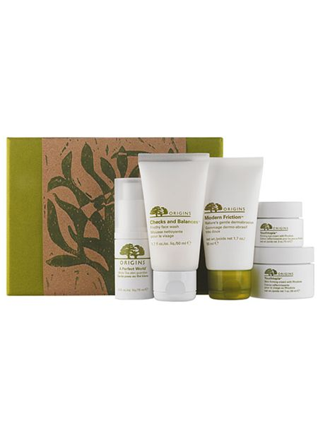 """Pals of the planet, Origins, have sculpted a set of deluxe skincare products that are soft on skin and kind to the environment. This collection includes Origins skincare classics - Youthopia skim firming cream and eye cream, face wash, facial scrub and plumper. Plus it's all wrapped up in recycled packaging so it's luxurious for her and loving for the environment. Available at <a target=""""_blank"""" href=""""http://www.origins.co.uk"""">www.origins.co.uk</a><br /><br />"""