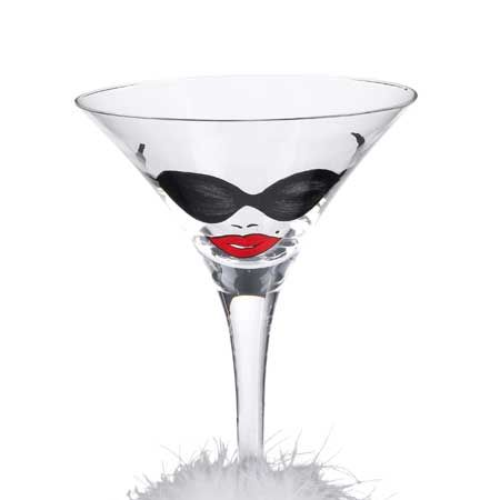 "See her sip in style with this decorative beauty. This model is part of a collection of crazy cocktail glasses by former DKNY designer, Lolita. Each painted piece has a character design to suit every personality and a delicious cocktail recipe written on the bottom. Available at <a target=""_blank"" href=""http://www.johnlewis.com"">www.johnlewis.com</a>  <br />"