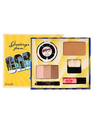 """<p>Trust Benefit to come to the rescue for our festival beauty needs. This bursting-with-essentials Cabana Glama kit by Benefit features products to brighten and bronze with hoola bronzing powder and some kind-a gorgeous foundation to add colour, while posietint and an eyeshadow palette of soft peaches and rich metallic hues highlights and contours the face. See, we told you it was a goodie!<br /><br />Cabana Glama, £28.50, <a title=""""Benefit"""" href=""""http://www.asos.com/Benefit/Benefit-Cabana-Glama-Make-Up-Set/Prod/pgeproduct.aspx?iid=2183064&cid=5842&sh=0&pge=0&pgesize=20&sort=-1&clr=Cabana+glama"""" target=""""_blank"""">Benefit</a></p>"""