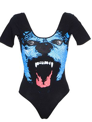 "<p>This cool brand produces fun graphic vests, bodies and tees - we love this roaring She Wolf body - inspired by Shakira's famous anthem, perhaps? make like Rihanna and wear with denim cut-offs and plenty of gehtto girl 'tood.</p> <p>Wolf body, £39.95, <a title=""http://www.electrictees.co.uk/products/wolf-body"" href=""http://www.electrictees.co.uk/products/wolf-body"" target=""_blank"">Electric Tess</a><br /><br /></p>"
