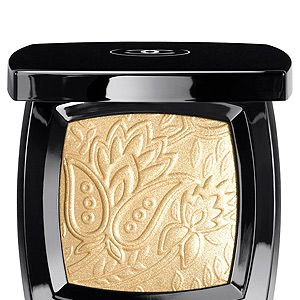 """<p>Chanel's gorgeous new shimmery gold compact will add a little Eastern glam to your cheeks and eyes - although the powder is almost too pretty to use! It's embossed with the template of a rare piece of bronze brocade from an Indian-inspired collection created by Chanel in the 60s.</p><p>Route des Indes de Chanel, £48, <a title=""""http://www.chanel.com/en_GB/"""" href=""""http://www.chanel.com/en_GB/"""" target=""""_blank"""">Chanel</a><br /><br /></p>"""