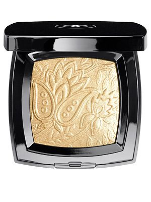 "<p>Chanel's gorgeous new shimmery gold compact will add a little Eastern glam to your cheeks and eyes - although the powder is almost too pretty to use! It's embossed with the template of a rare piece of bronze brocade from an Indian-inspired collection created by Chanel in the 60s.</p> <p>Route des Indes de Chanel, £48, <a title=""http://www.chanel.com/en_GB/"" href=""http://www.chanel.com/en_GB/"" target=""_blank"">Chanel</a><br /><br /></p>"