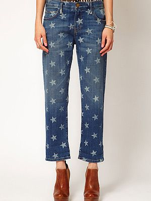 "<p>These Current/Elliott star print jeans have been spotted on a whole host of celebs, and now they've landed at Asos, they're riding high on our wish (upon a star) list...</p> <p>Current/Elliott Star Print Boyfriend Jean, £200, <a title=""http://www.asos.com/Current/Elliot/Current/Elliott-The-Boyfriend-Jean-in-white-Star-Print/Prod/pgeproduct.aspx?iid=2368949&cid=6930&sh=0&pge=0&pgesize=20&sort=-1&clr=White+star+print&r=2 "" href=""http://www.asos.com/Current/Elliot/Current/Elliott-The-Boyfriend-Jean-in-white-Star-Print/Prod/pgeproduct.aspx?iid=2368949&cid=6930&sh=0&pge=0&pgesize=20&sort=-1&clr=White+star+print&r=2%20"" target=""_blank"">Asos.com</a><br /><br /></p>"