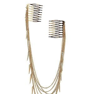 """<p>If it's good enough for the Made in Chelsea girls, it's good enough for us. This multi chain hair comb is uh-maze and the spikes are totes on trend. Just wear it over a chignon or lose waves for a bohemian rock-chick look.</p><p>Multi chain spike hair comb, £10, <a title=""""Topshop"""" href=""""http://www.topshop.com/webapp/wcs/stores/servlet/ProductDisplay?beginIndex=0&viewAllFlag=&catalogId=33057&storeId=12556&productId=6015803&langId=-1&sort_field=Relevance&categoryId=277012&parent_categoryId=208491&pageSize=200"""" target=""""_blank"""">Topshop</a></p>"""