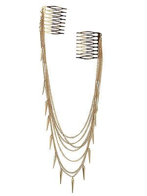 "<p>If it's good enough for the Made in Chelsea girls, it's good enough for us. This multi chain hair comb is uh-maze and the spikes are totes on trend. Just wear it over a chignon or lose waves for a bohemian rock-chick look.</p> <p>Multi chain spike hair comb, £10, <a title=""Topshop"" href=""http://www.topshop.com/webapp/wcs/stores/servlet/ProductDisplay?beginIndex=0&viewAllFlag=&catalogId=33057&storeId=12556&productId=6015803&langId=-1&sort_field=Relevance&categoryId=277012&parent_categoryId=208491&pageSize=200"" target=""_blank"">Topshop</a></p>"
