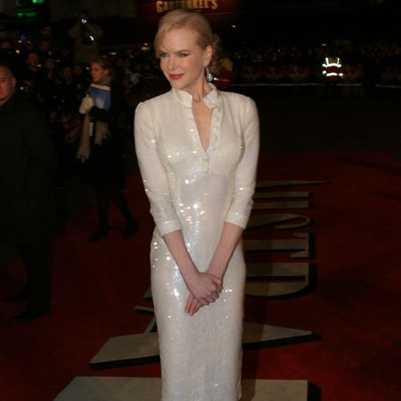 Adding a touch of glamour to the night was Nicole Kidman who stars alongside Hugh in <em>Australia</em>. Nicole dazzled on the red carpet in a sparkly frock that flattered every curve of her enviable figure.  <br />
