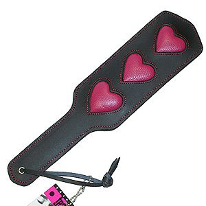 """<p>If gentle spanking is your thing, as it soon becomes Ana's, then this sweetheart paddle will really hit the spot! That soft leather can create anything from a gentle touch to some seriously kinky lovin'. Just remember, heart marks the spot…</p><p>Heart leather paddle, £19.95, <a title=""""Strawberry Blushes"""" href=""""http://www.strawberryblushes.co.uk/products/Bound-to-Tease-Heart-Leather-Paddle.html"""" target=""""_blank"""">Strawberry Blushes</a></p>"""