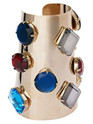 """<p>No one will want to mess with you wearing this bejewelled armour cuff.  Make like Xena Warrior Princess and wear your blinged-up armour with pride.</p> <p>Limited edition stone armour cuff, £25, <a title=""""http://www.asos.com/ASOS/Limited-Edition-Stone-Armour-Cuff/Prod/pgeproduct.aspx?iid=2290250&cid=6992&sh=0&pge=0&pgesize=20&sort=-1&clr=Multi&r=2"""" href=""""http://www.asos.com/ASOS/Limited-Edition-Stone-Armour-Cuff/Prod/pgeproduct.aspx?iid=2290250&cid=6992&sh=0&pge=0&pgesize=20&sort=-1&clr=Multi&r=2"""" target=""""_blank"""">ASOS</a></p>"""