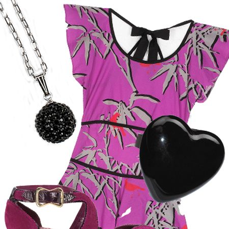"Playsuit, £80, Belle & Bunty for <a target=""_blank"" href=""http://www.asos.com/"">Asos</a>&#x3B; necklace, £39.99, Giles Deacon for Evoke at <a target=""_blank"" href=""http://www.hsamuel.co.uk/"">H Samuel</a>&#x3B; ring, £8, <a target=""_blank"" href=""http://www.dorothyperkins.com/webapp/wcs/stores/servlet/TopCategoriesDisplay?storeId=12552&catalogId=20552"">Dorothy Perkins</a>&#x3B; shoes, £64.99, <a target=""_blank"" href=""http://xml.riverisland.com/flash/content.php"">River Island</a><br />"